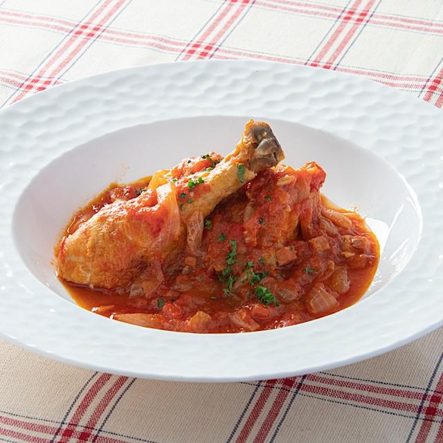 国産骨付き森林鶏もも肉のトマト煮~ポルトガル風~